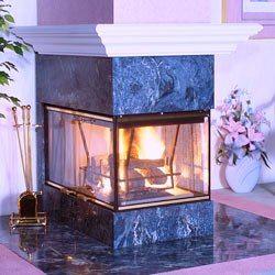 Vanguard Wood Burning See Thru Corner And Peninsula Fireplaces