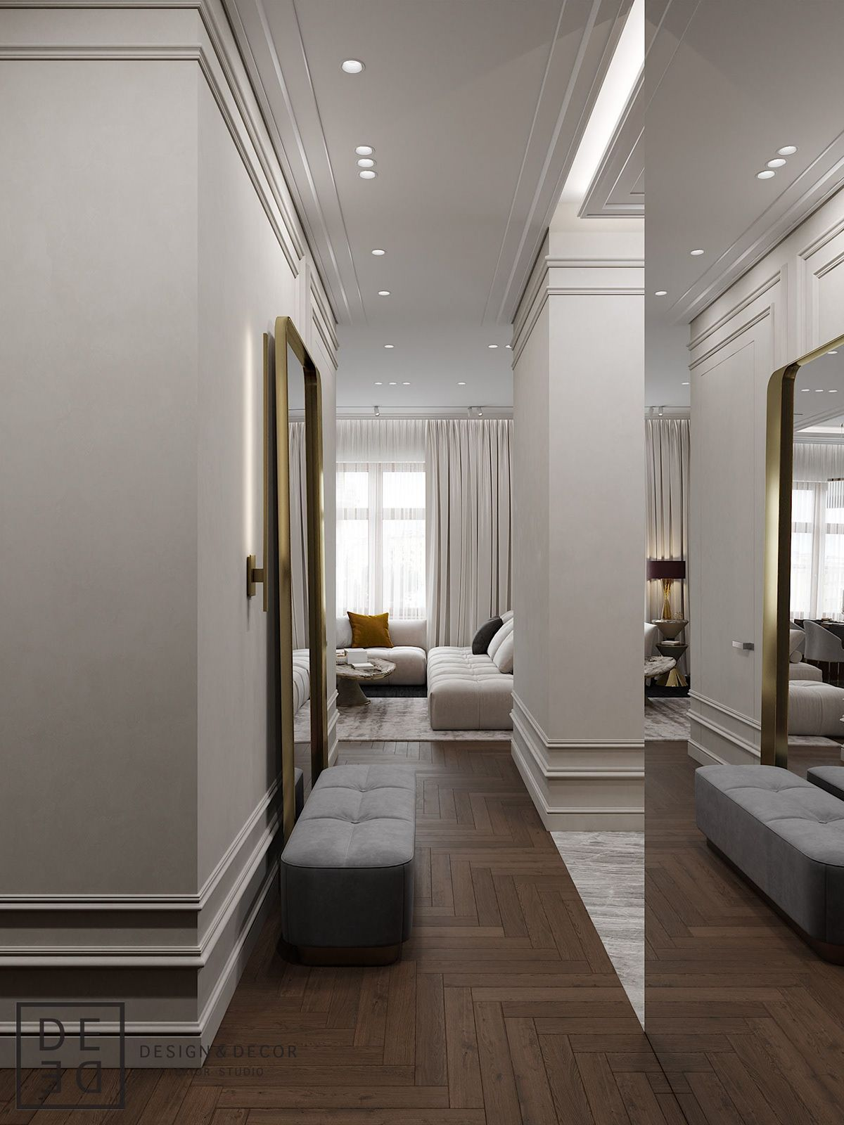 De De Fusion Apartment On Behance S Izobrazheniyami Dizajn