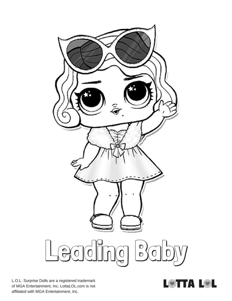 Leading Baby Coloring Page Lotta Lol Baby Coloring Pages Coloring Pages Kids Printable Coloring Pages