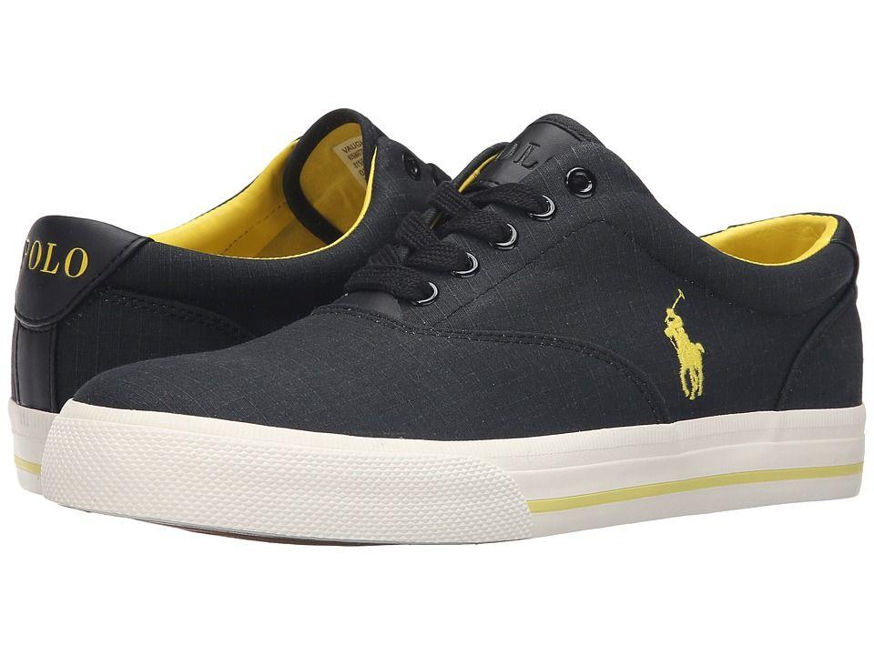 Shoes Outlet - Ralph Lauren Vaughn Matte Ripstop Black Mens Trainers