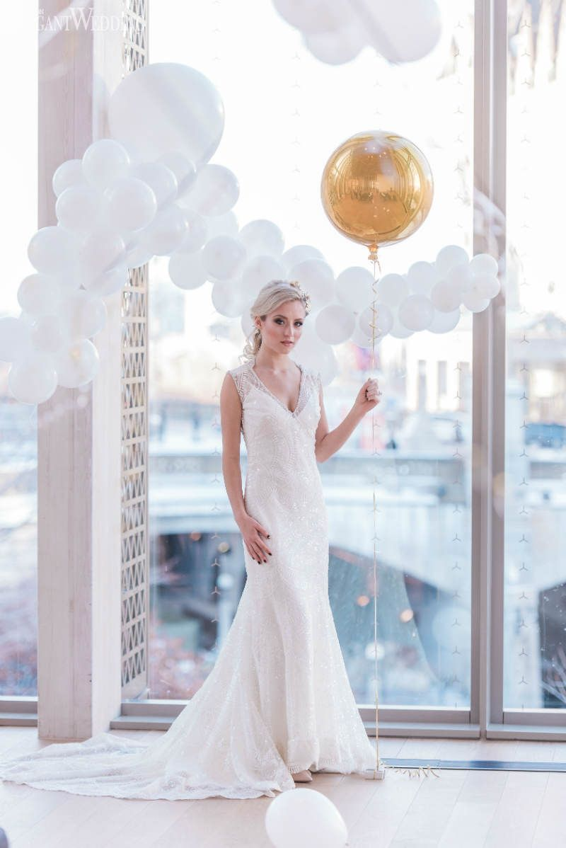 Balloon Wedding Decor, Balloon Wedding Ideas, Vintage Wedding Dress ...