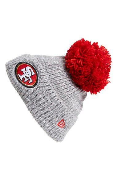 New Era Cap 'Cuff Star - San Francisco 49ers' Pompom Knit Beanie