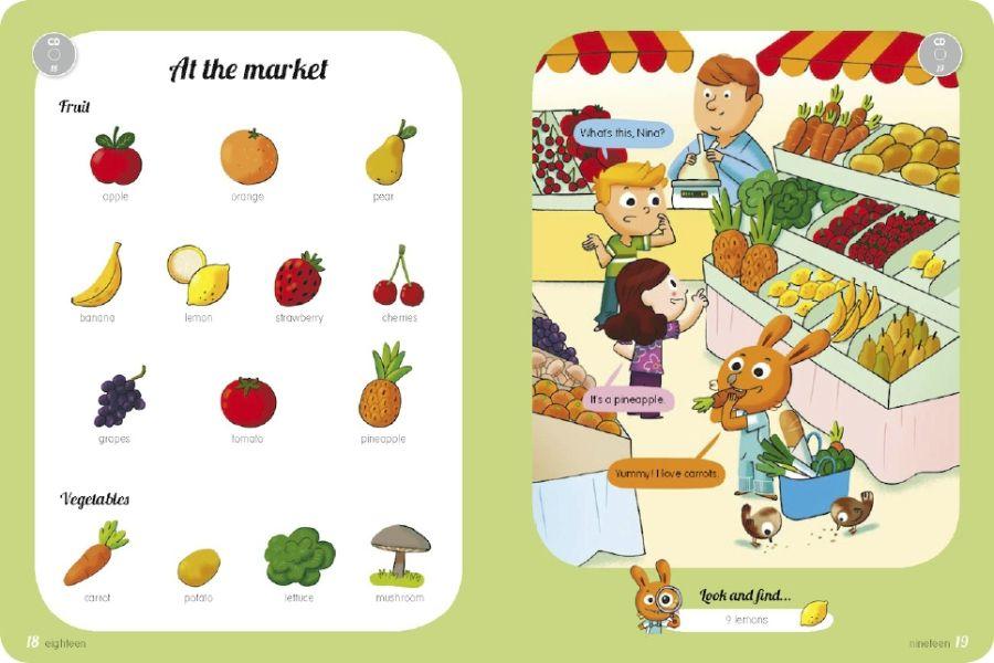 Grand imagier pour apprendre l 39 anglais aux enfants avec cd for Anglais vocabulaire maison