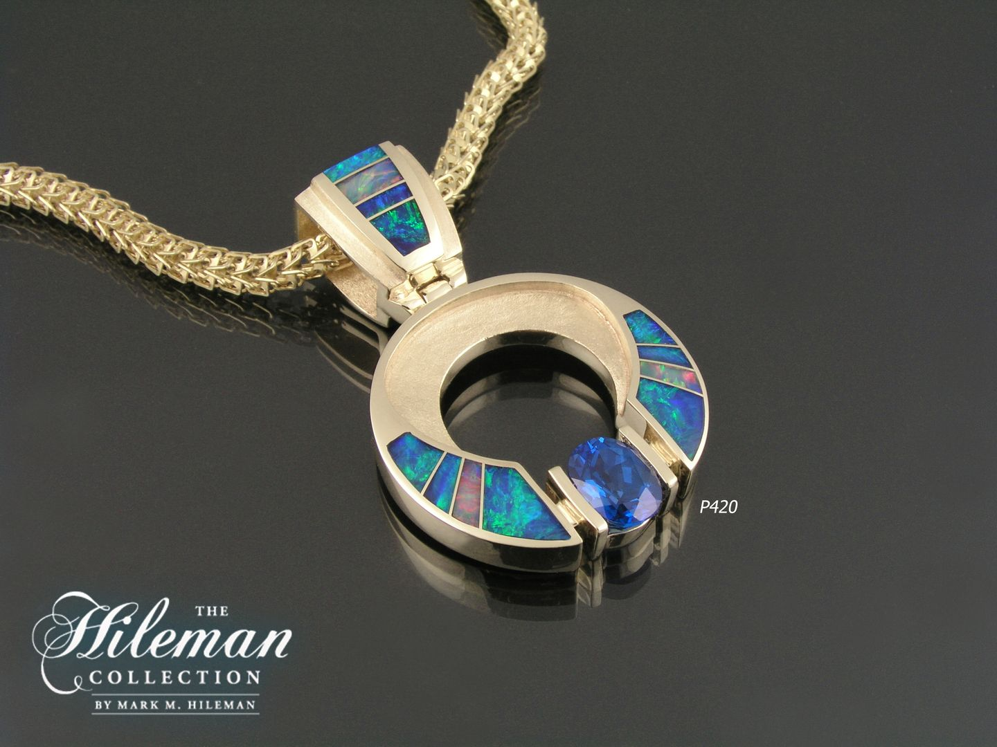 Our australian opal pendant designs are available in yellow handmade opal inlay jewelry custom australian opal jewelry designs aloadofball Image collections