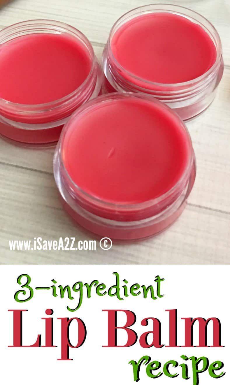 3 Ingredient Lip Balm Recipe in 2020 Diy lip balm