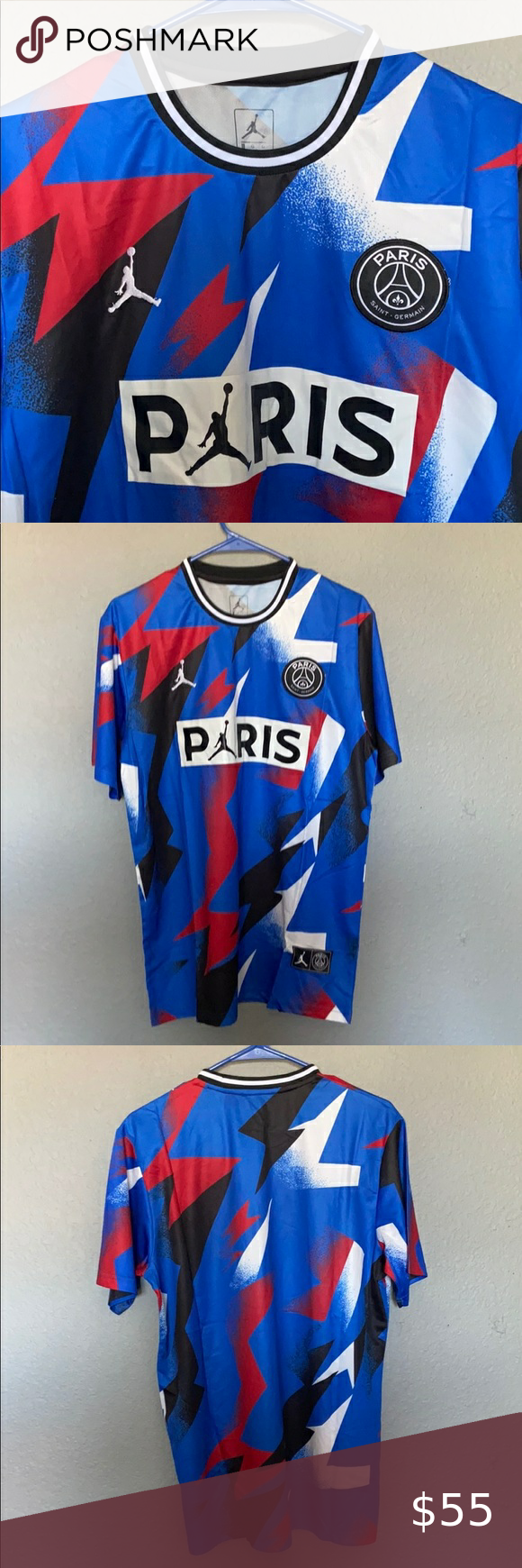 Psg Paris Saint Germain Jordan Jersey Rare Paris Saint Germain Jordan Jersey Jordan Shirts