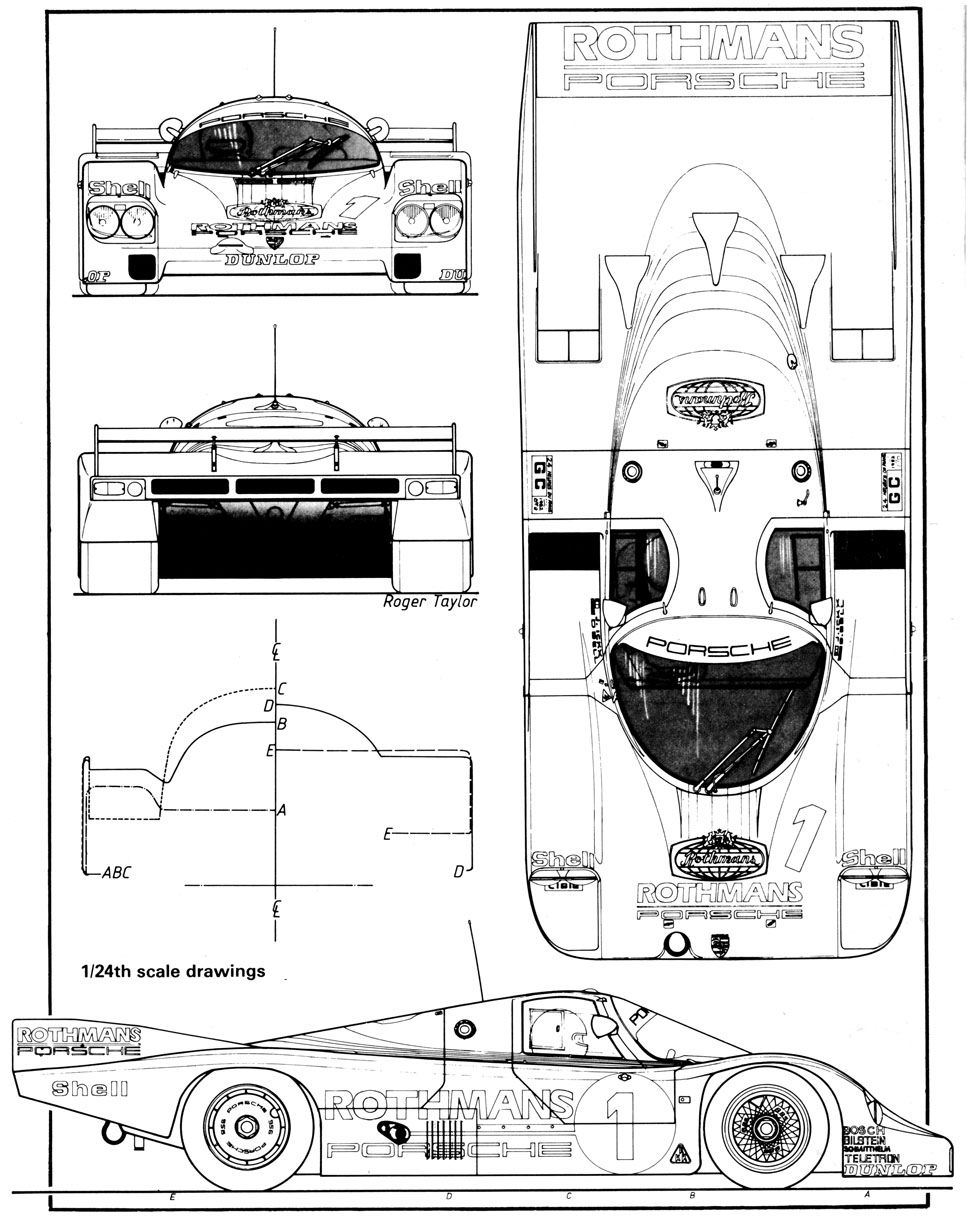 Porsche 956 blueprint racing car blueprint pinterest cars le porsche 956 blueprint malvernweather Choice Image
