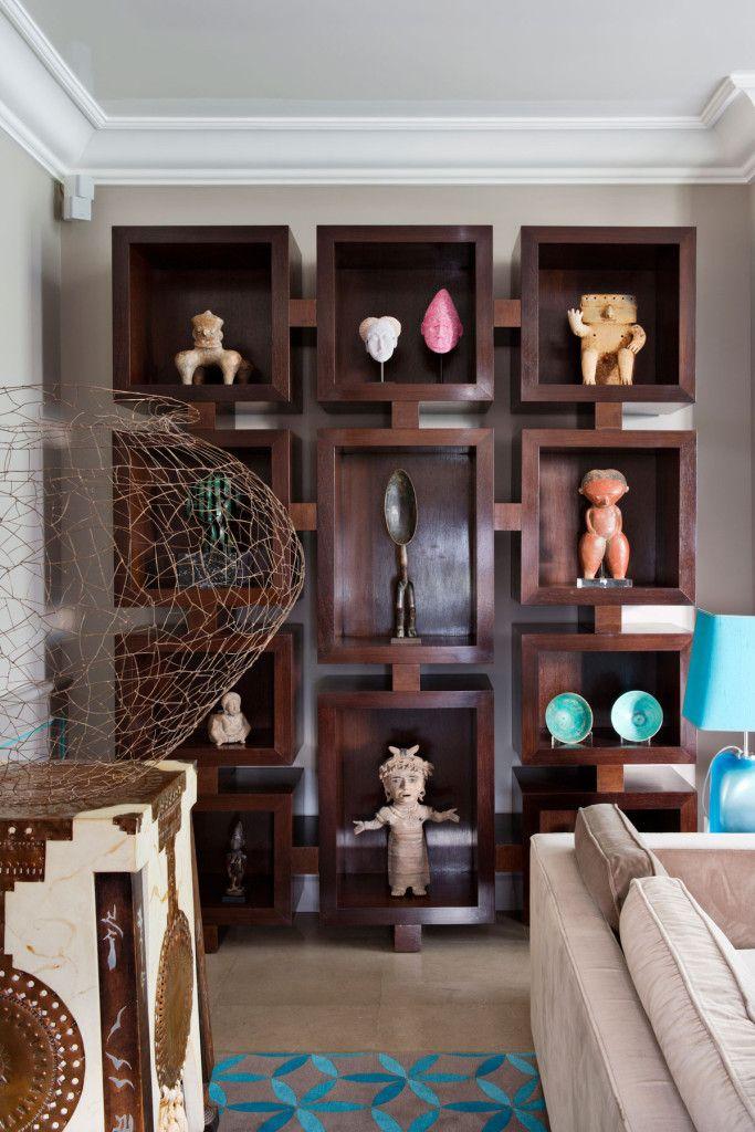 cultured home antique sculpture collection modern shelves serge castella interiors. Black Bedroom Furniture Sets. Home Design Ideas