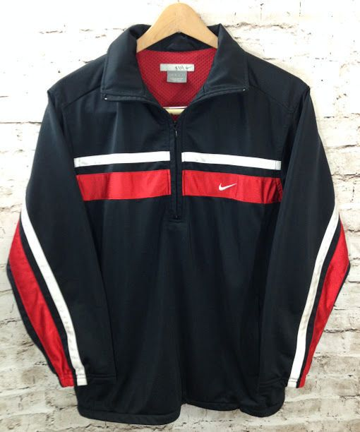 ffe885e1e28c Nike Basketball Boys Sz L 14-16 Black Half Zip Pullover Top Red White Stripe  EUC  Nike  HalfZipPullover  Everyday