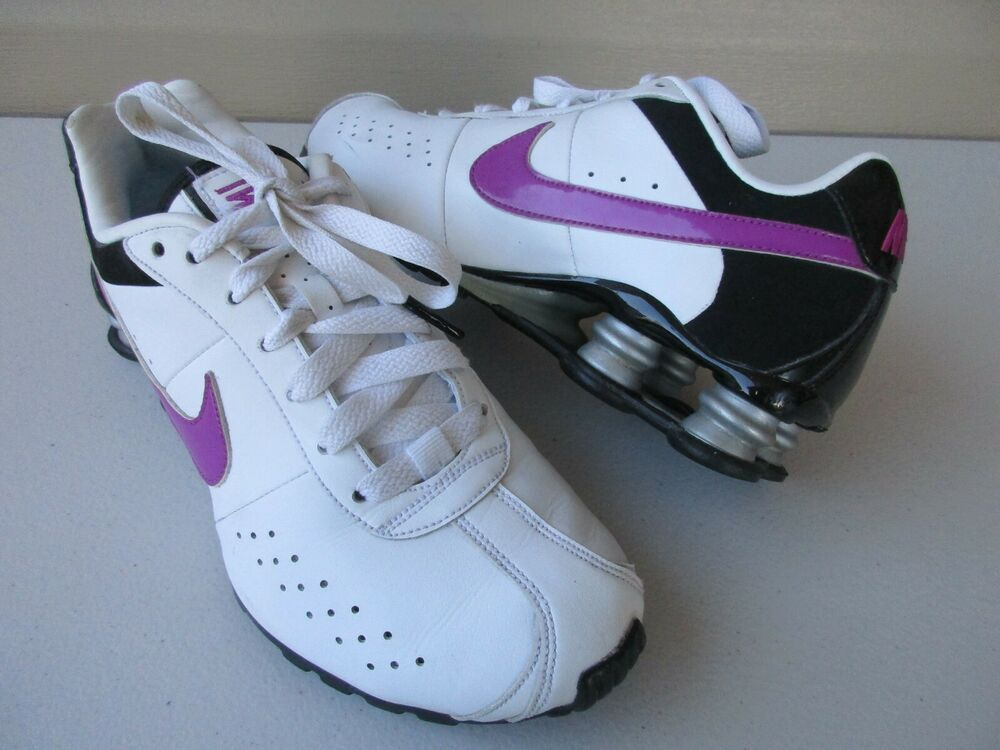 finest selection 24bba 6fd3d Nike Shox Woman s Classic II White Purple Running Shoes Sneaker 343907 Size  8  Nike  RunningShoes