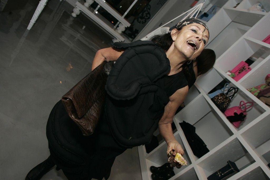 Michèle Lamy in Rick Owens and Comme Des Garçons  @ Art Basel