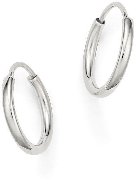 14k White Gold Small Endless Hoop Earrings 100 Exclusive Bloomingdale S