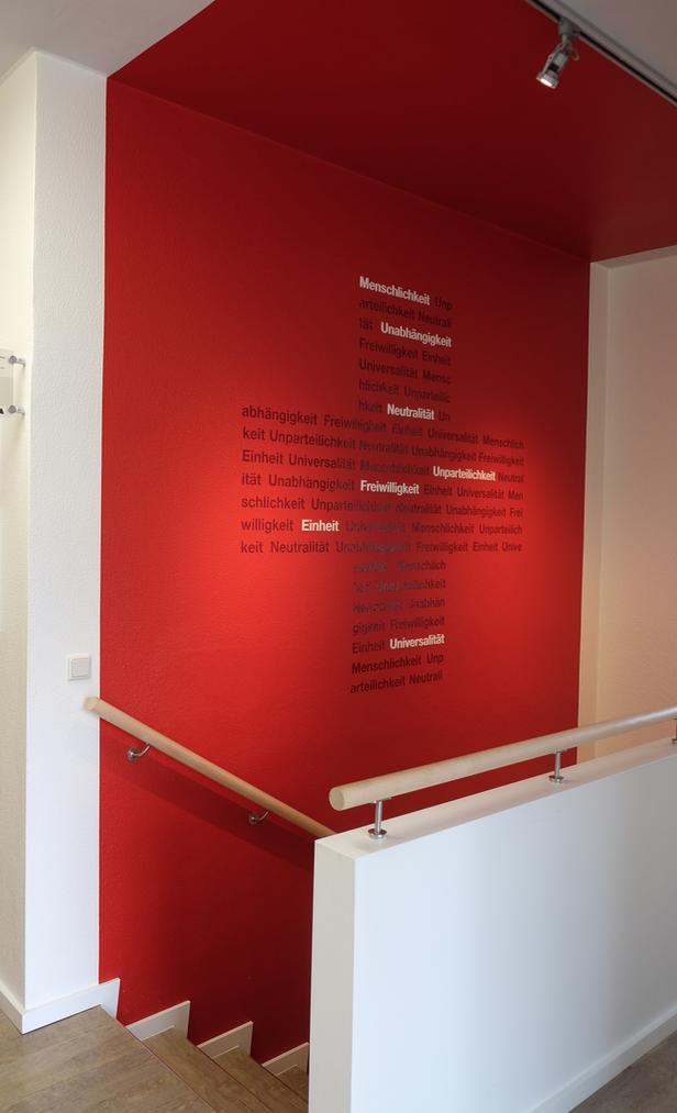 Drk gesch ftsstelle treppe im eg des ehemaligen bunkers for Raumgestaltung ganztagsschule