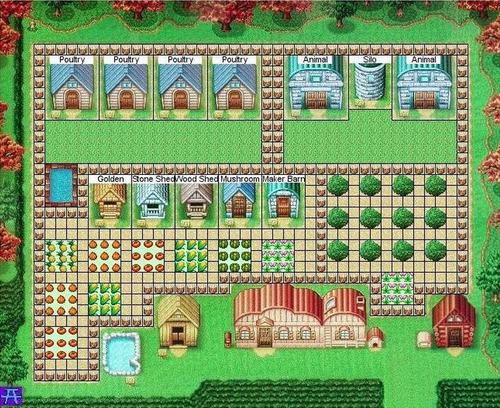 Harvest Moon DS - Best farm placement | Harvest moon