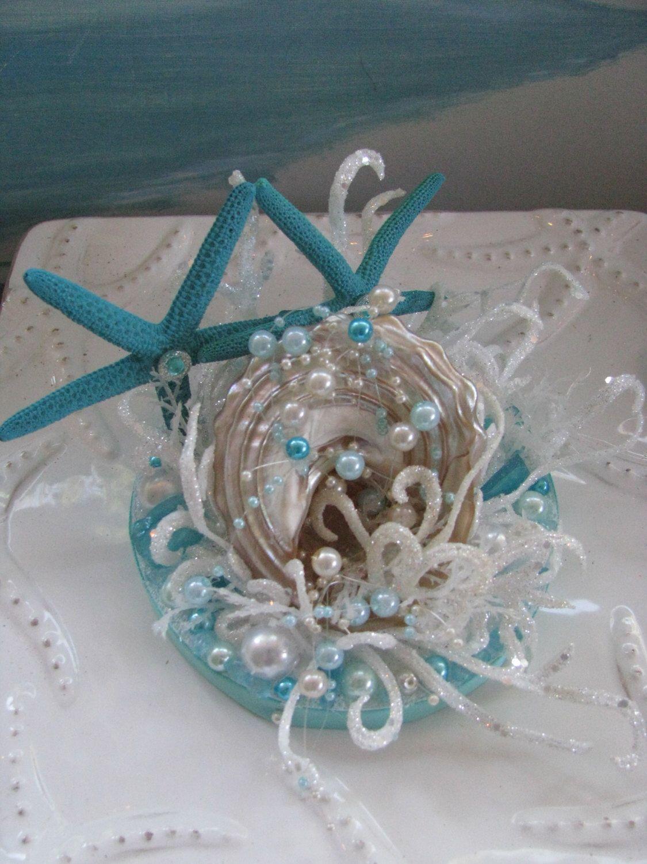 Seashell Wedding Cake TopperStarfish Beach Topper