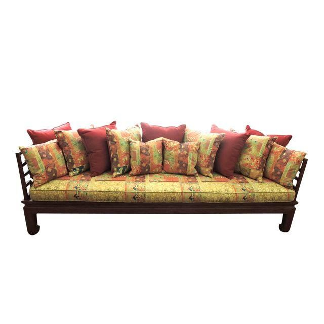 Chinese Rosewood Settee/Daybed With Cushions Daybed and Settees