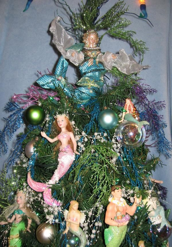 for christmas time mermaid sanctuary pinterest tree toppers 10 years and coastal christmas. Black Bedroom Furniture Sets. Home Design Ideas