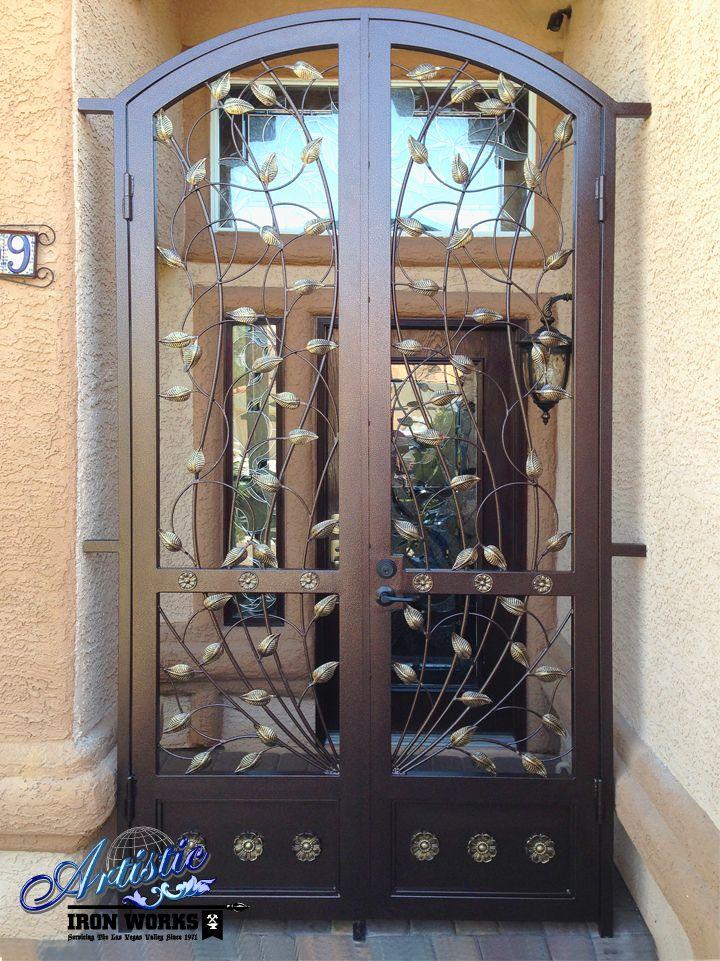 front door gateCrescente  Wrought Iron Vine Front Door Entry Gate  Model