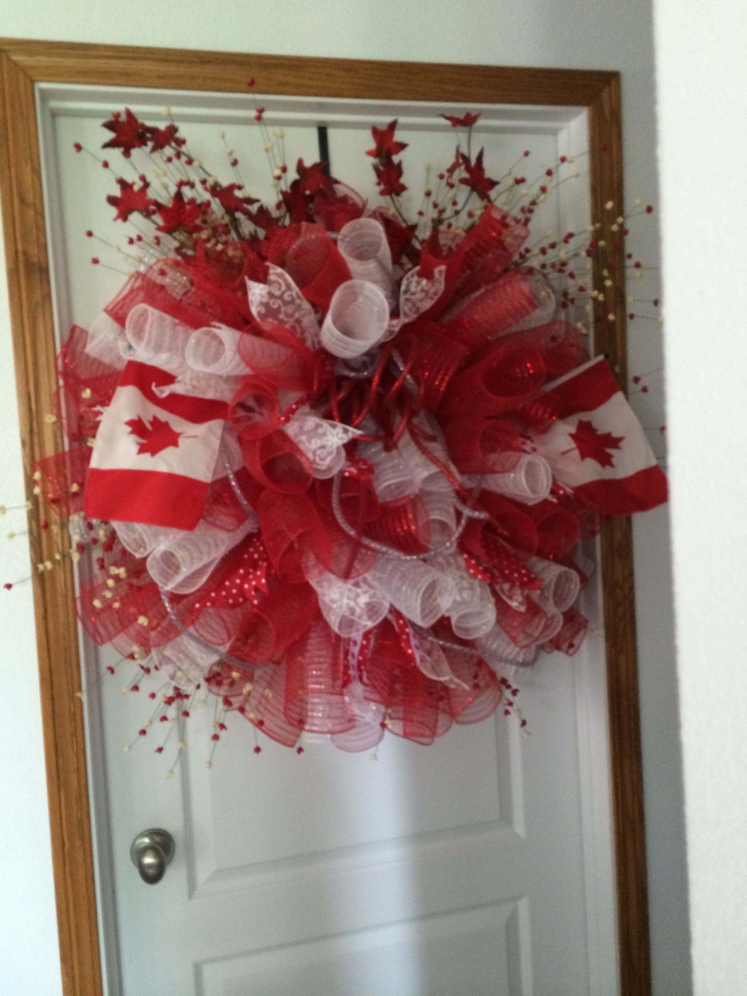 My Canada Day wreath Canada decor, Canada day crafts