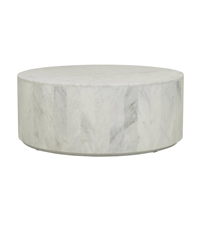 Elle Round Block Coffee Table Carrara Marble Zephyr Stone Oval Coffee Tables Solid Coffee Table Coffee Table [ 1540 x 1420 Pixel ]