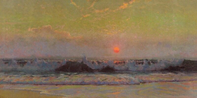 Sydney Laurence The Setting Sun Coast Of Cornwall Painting