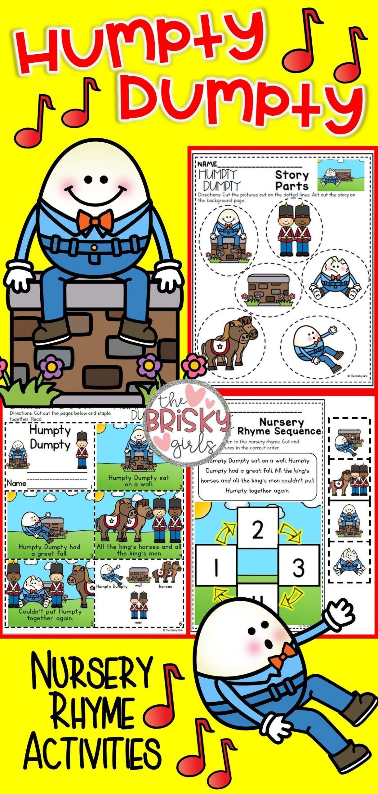 Nursery Rhymes Preschool Humpty Dumpty Nursery Rhyme