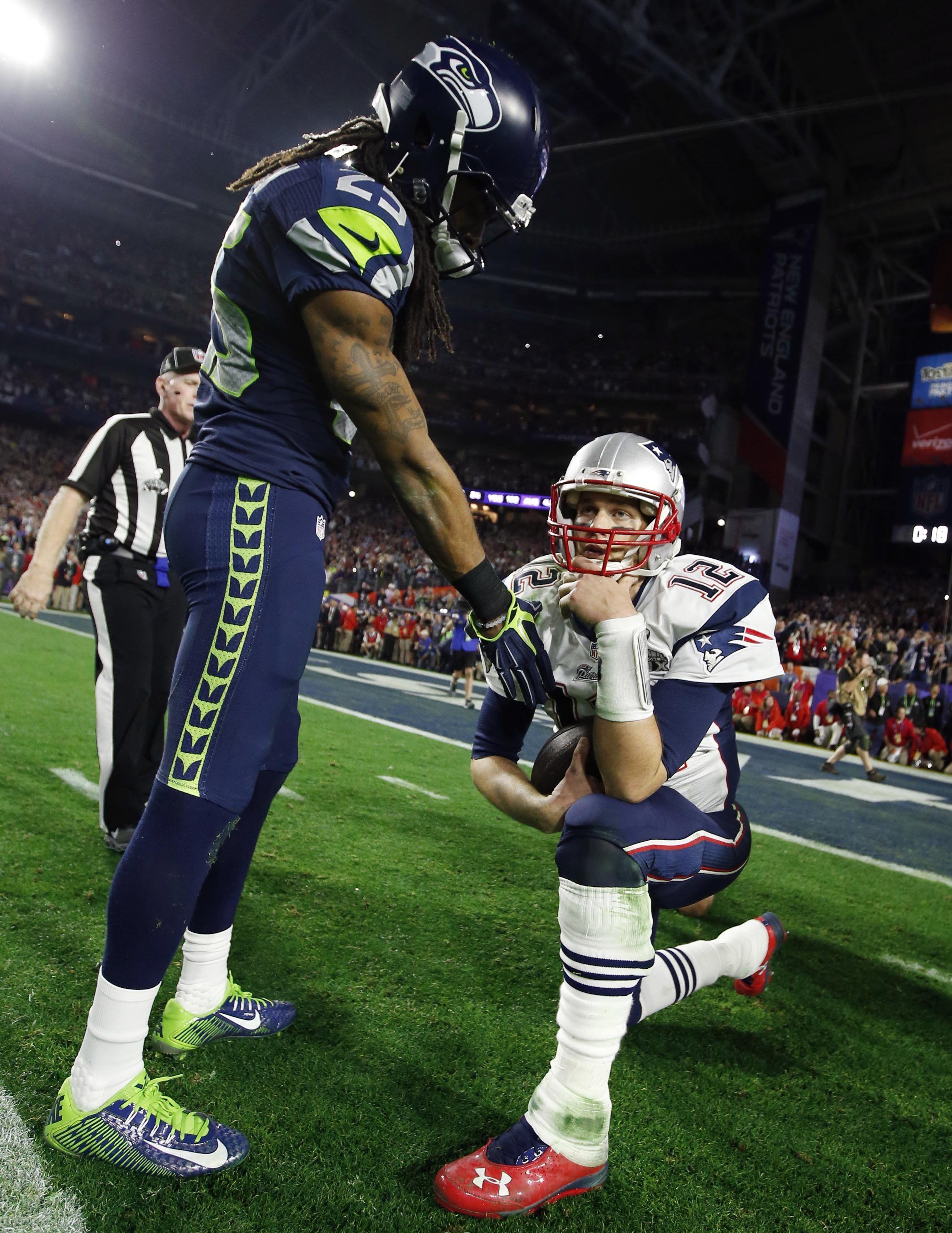 Yahoo Sports Nfl New England Patriots Football Richard Sherman Tom Brady