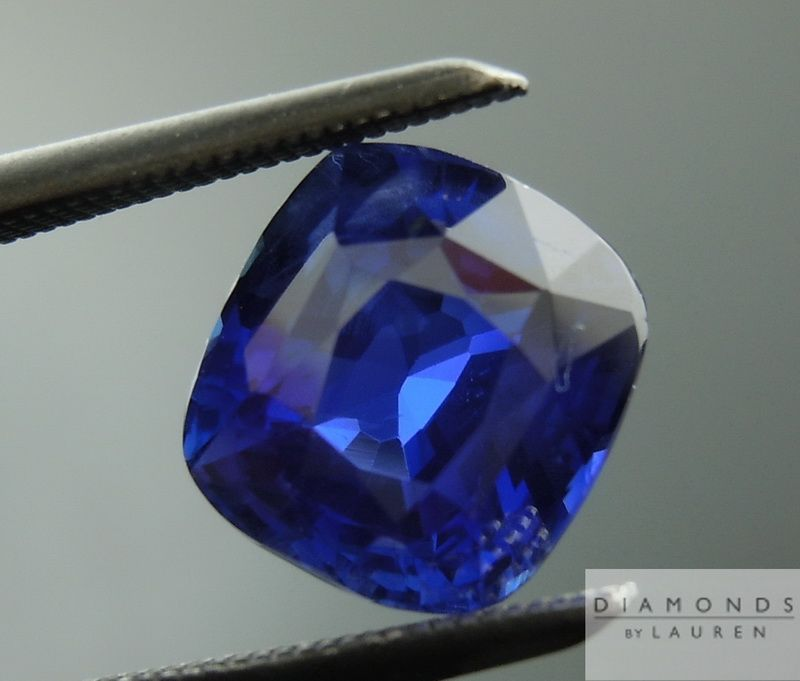 2.78ct Blue Cushion Cut Unheated Sapphire GIA Loose Stone #amazing #color #royal #blue