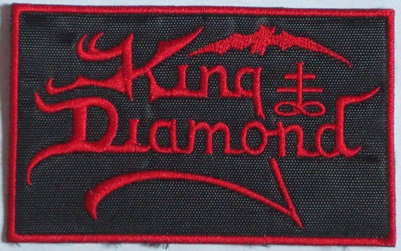 King Diamond - Logo (Red w/ Border) Patch