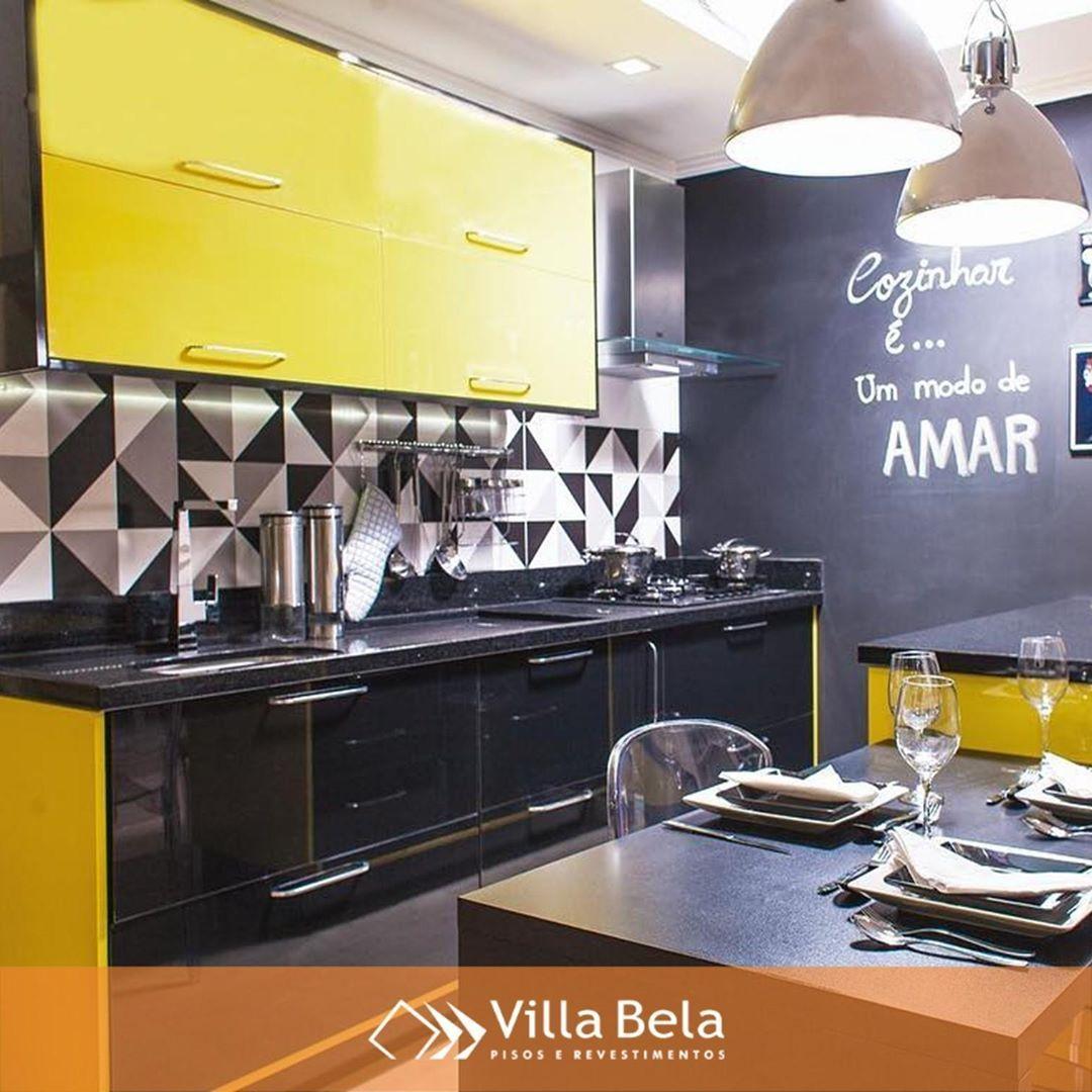 Cozinha Super Moderna E Compondo Muito Bem Com A Ceramica Bauhaus
