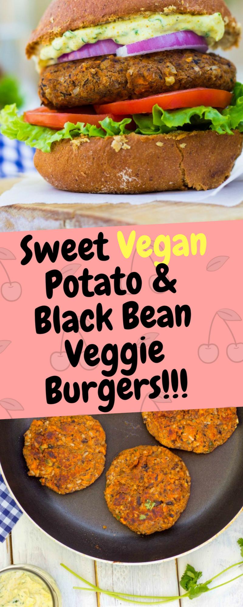 Sweet Vegan Potato Black Bean Veggie Burgers Veggie Burger Sweet Potato Burgers Vegan Veggie Burger