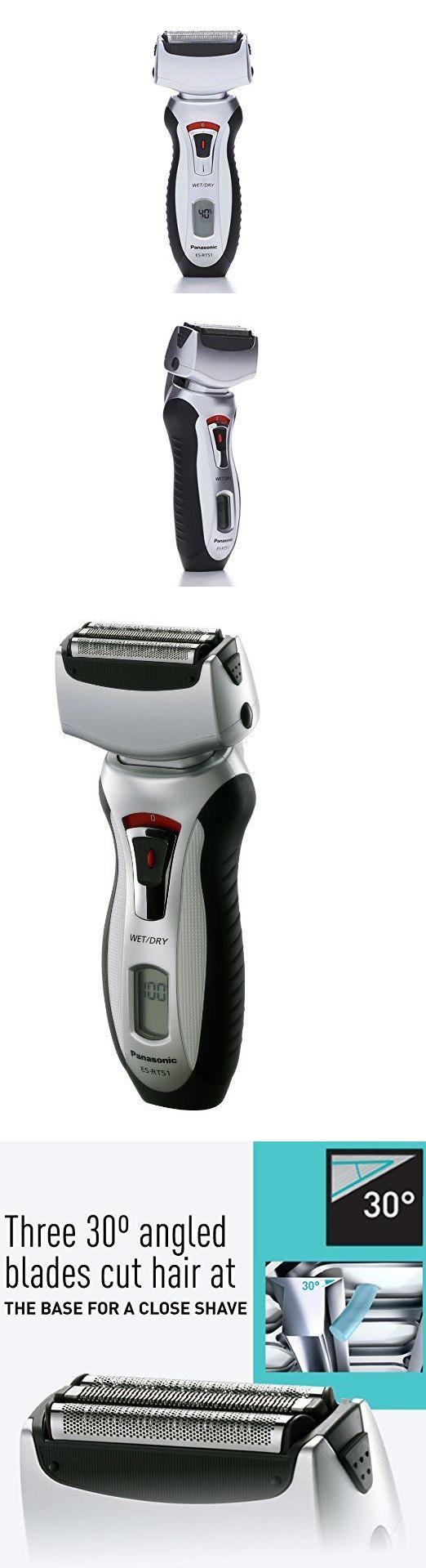 Panasonic Es Rt51 S Arc3 Wet Dry 3 Blade Cordless Electric Razor Rw30 Rechargeable Shaver With Flexible Pivoting Head