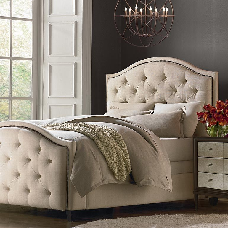 Custom Uph Beds Vienna Arched Bed Upholstered Bedroom Set