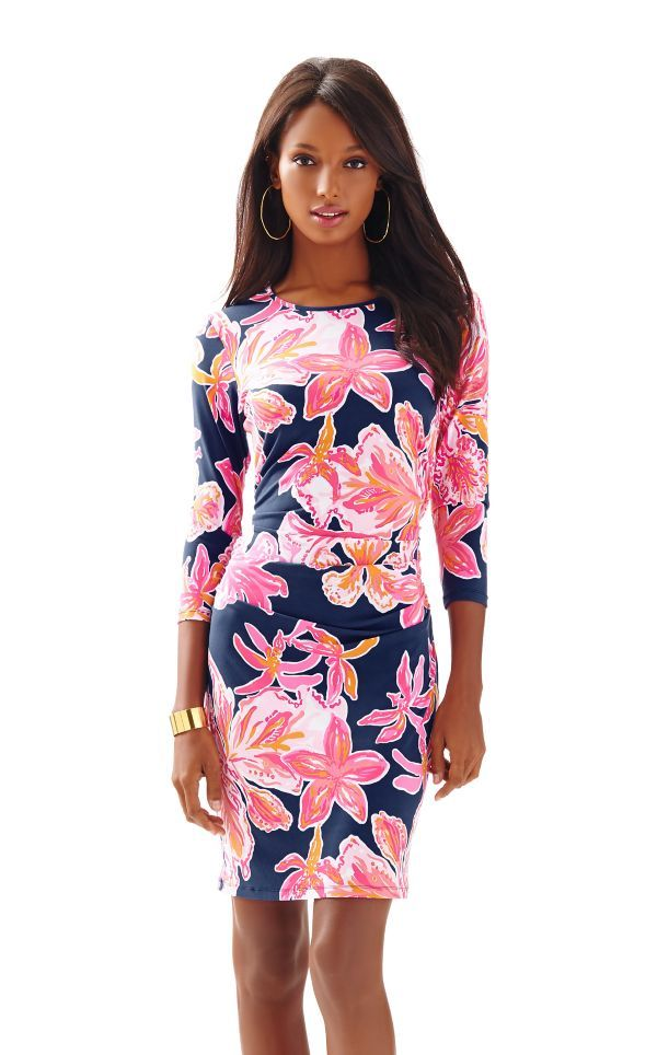 Madison Fitted Dress - Lilly Pulitzer Bright Navy Via Sunny | What ...