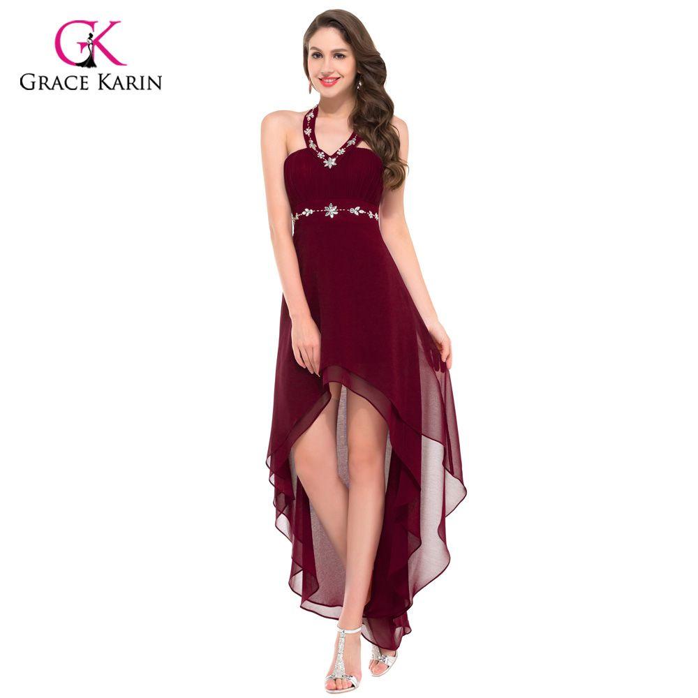 Grace karin women sexy black burgundy evening dresses short