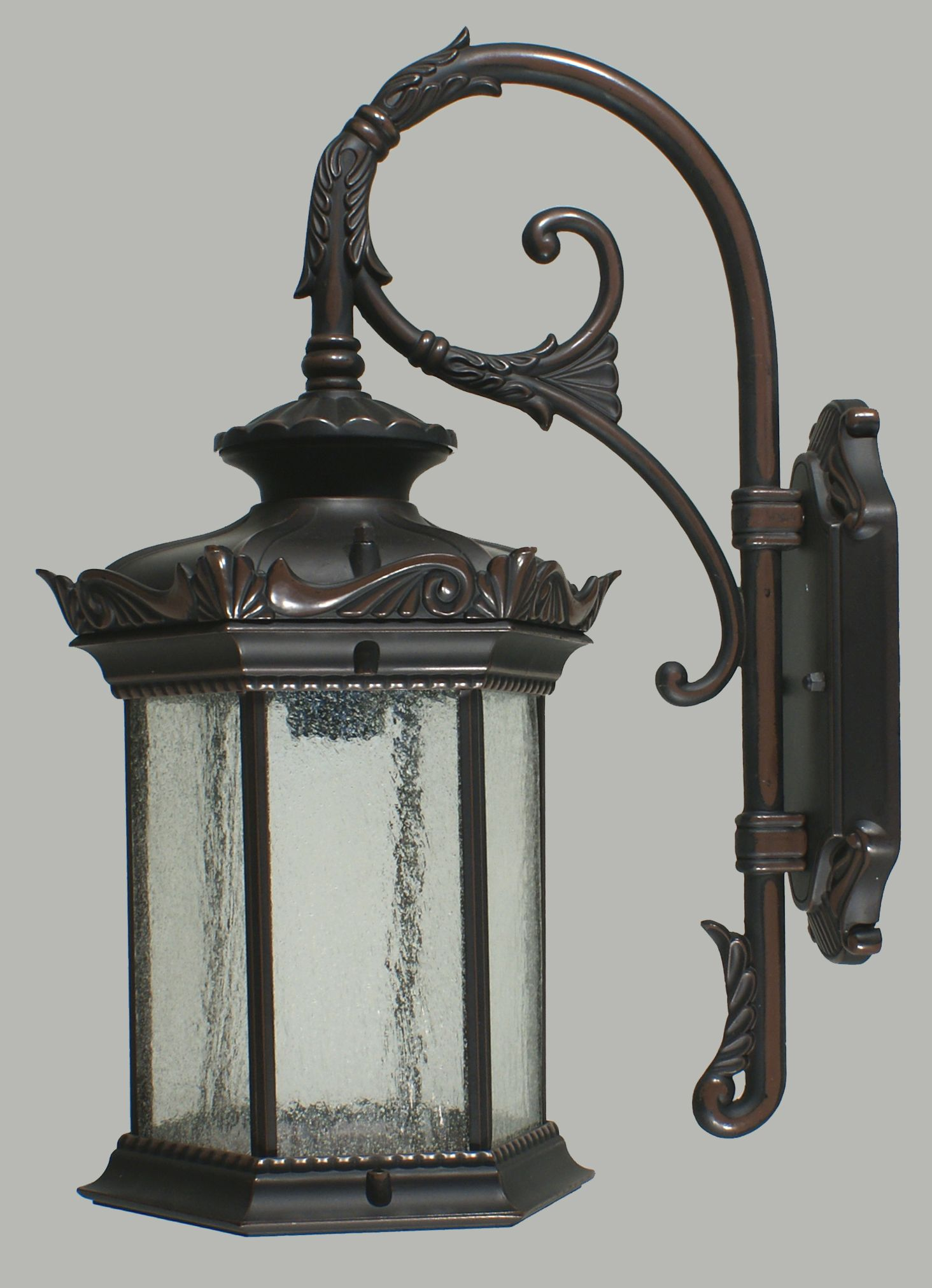 Features Caulfield Medium Outdoor Wall Light With Clear