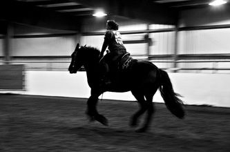 Me and my Percheron, Jinx - Kat Higdon Photography