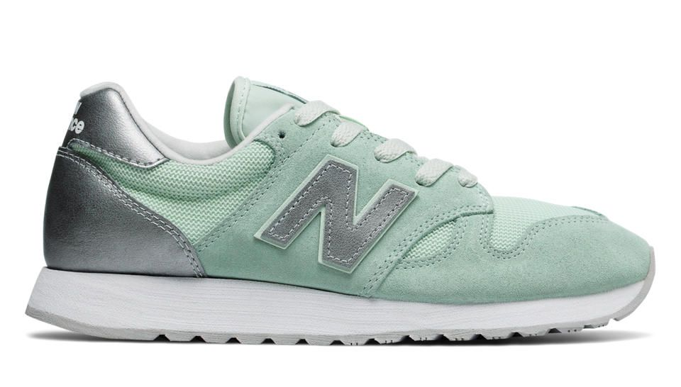 520 New Balance, Water Vapor with Metallic Silver (With ...