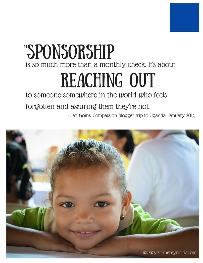 compassion brief schrijven Sponsorship is so much more than a monthly check. It's about