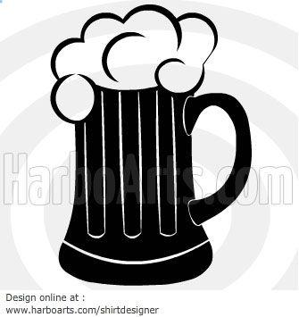 Download Black Beer Mug Vector Graphic Black Beer Mugs Mug Template