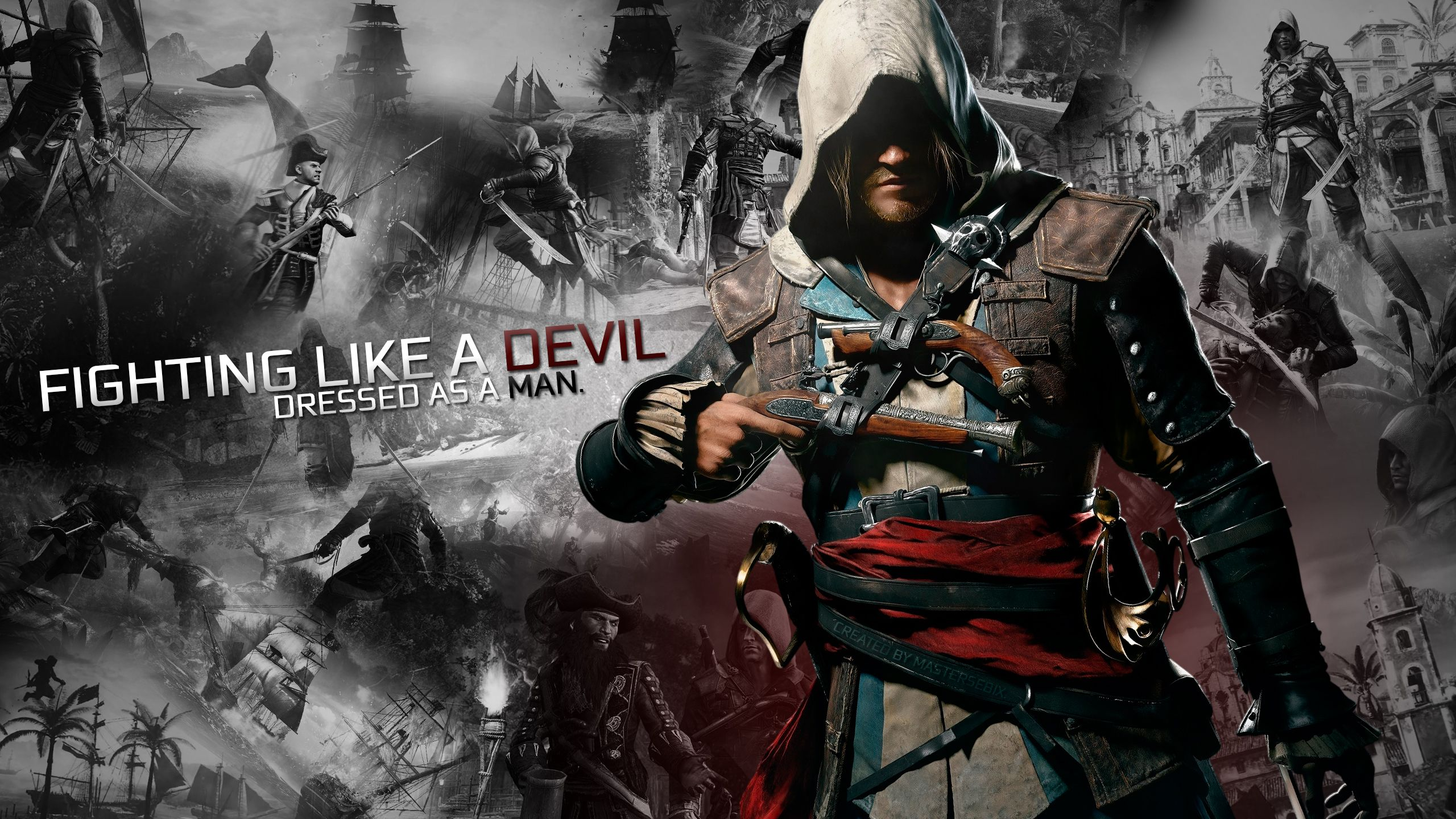 Character Assassins Creed 4 Black Flag Fighting Like a