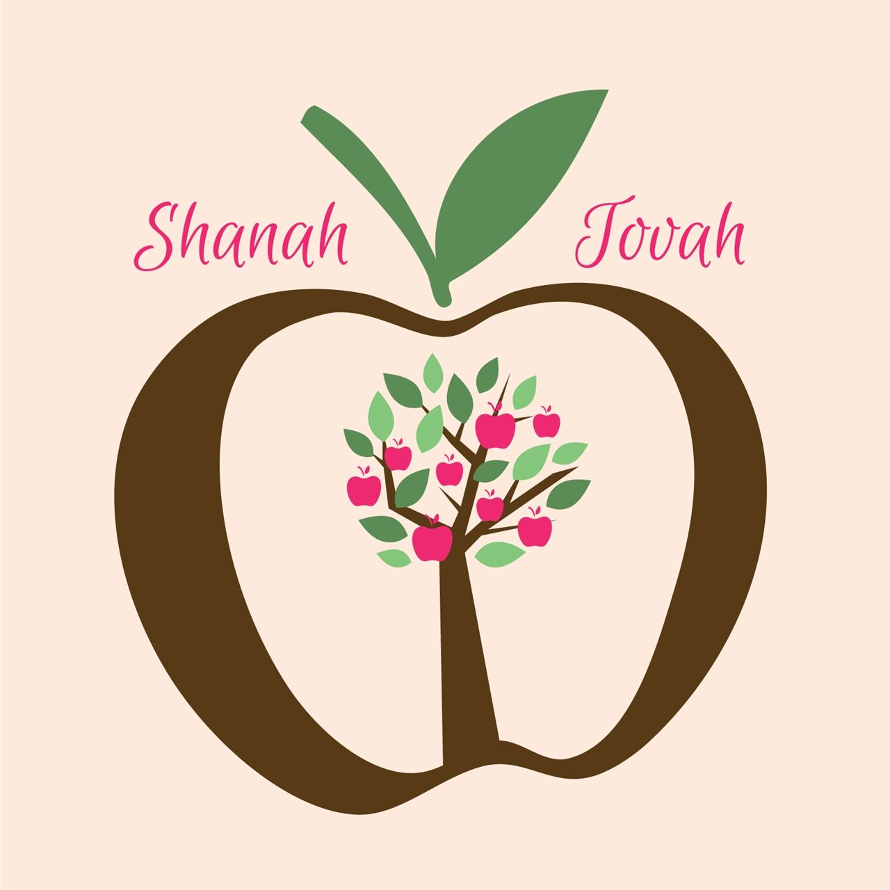 Apple Tree Joy Jewish New Year Greeting Card By Ananya Cards Rosh