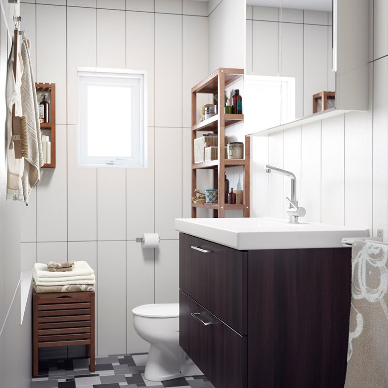 Bathroom Needs a bathroom needs to be functional. use open storage for things you