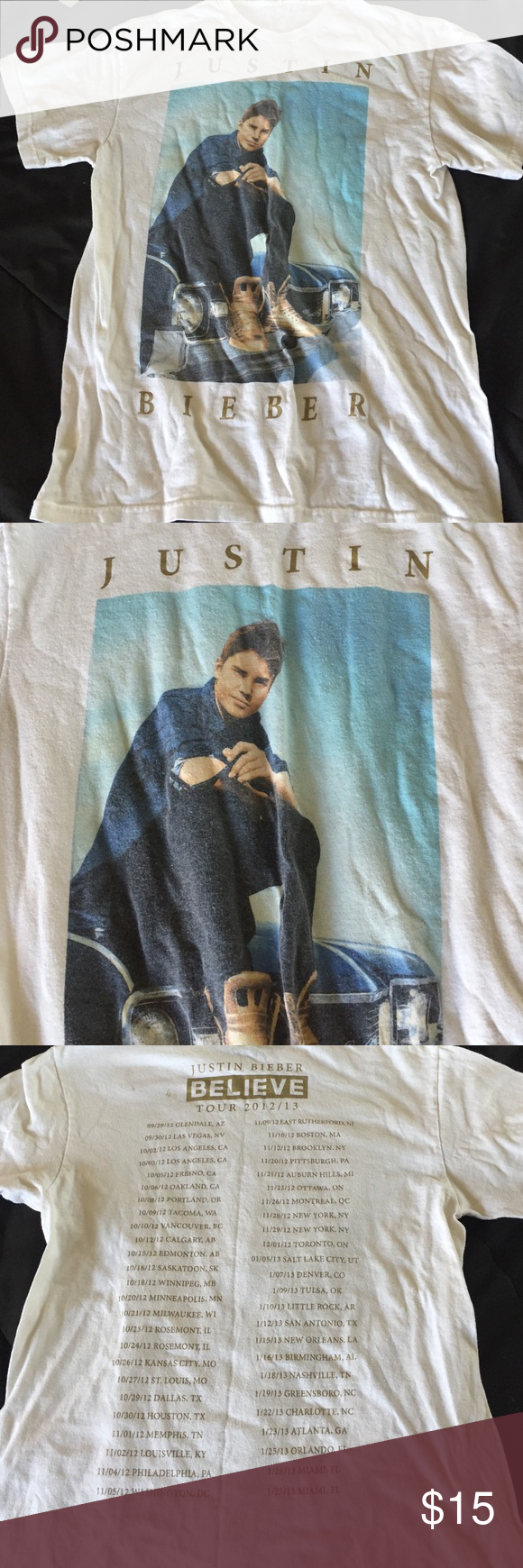 Design your own t shirt louisville ky - Justin Bieber Concert Tee Justin Bieber Concert T Shirt Forever 21 Tops Tees Short Sleeve