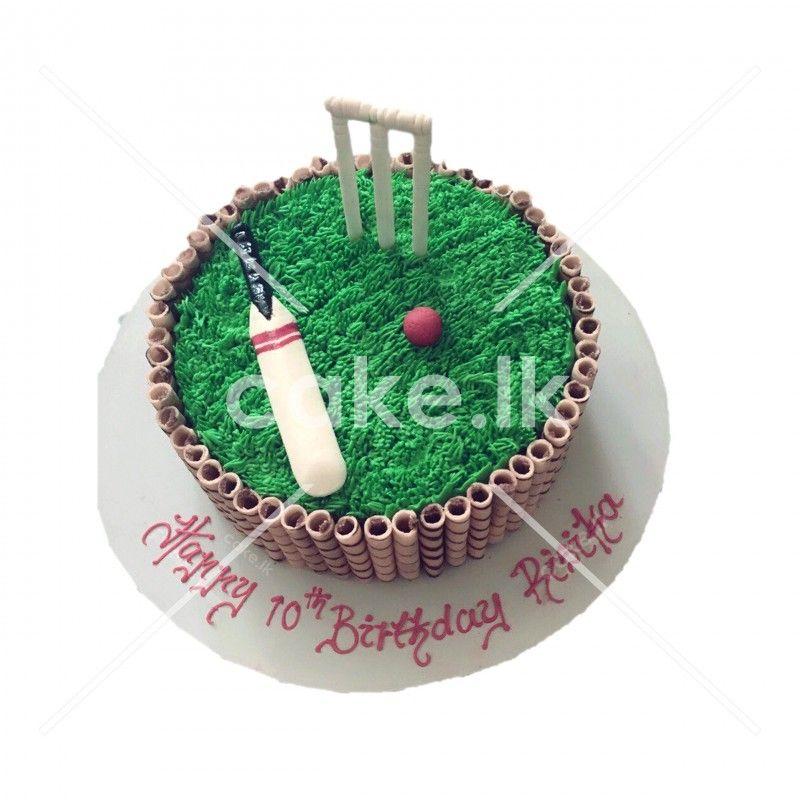 Birthday Cake Cricket 44 Lbs Birthday Cakes Pinterest