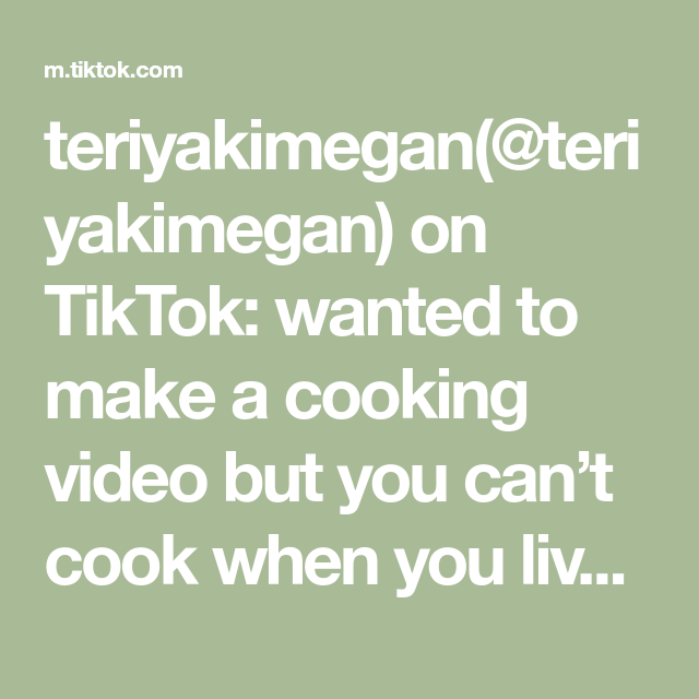 Teriyakimegan Teriyakimegan On Tiktok Wanted To Make A Cooking Video But You Can T Cook When You Live In A Dorm College Cooking Videos Cooking How To Make