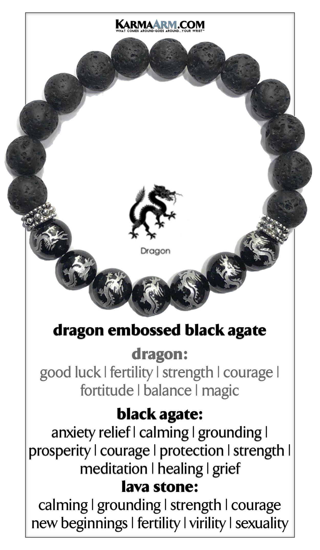 Boho Chakra Wrap Stretch Jewelry /& Zen Diffuser Gifts Meditation Jewelry Yoga Reiki Healing Energy KarmaArm Beaded Lava Wristband Fearless : CZ Black Diamond Gold Balls