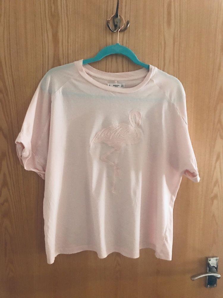 25c10d823c0 Mango Pink Flamingo T-Shirt  fashion  clothing  shoes  accessories   womensclothing  tops (ebay link)