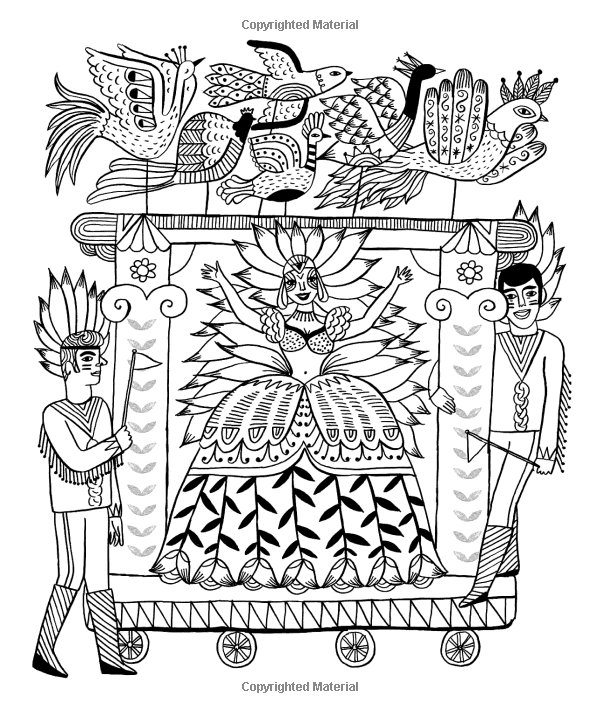Just Add Color Carnival 30 Original Illustrations To Color Customize And Hang Sarah Walsh 9781592539505 Bo Coloring Sheets Coloring Pages Coloring Books