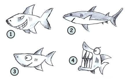 Drawing A Cartoon Shark Cartoon Drawings Shark Drawing Drawing Cartoon Characters